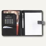 Ecobra Konferenzmappe DIN A5, Kunstleder, Taschenrechner, schwarz, 611045