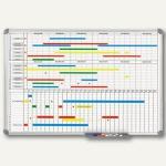 Monats-/Jahresplaner, 2 x 6 Monate m. Wocheneinheit, 90 x 60 cm, grau, 6496584