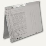 LEITZ Pendelhefter, DIN A4, 250 g/qm, Amtsheftung, grau, 50 Stück, 2094-00-85