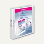 Präsentationsringbücher VELODUR, DIN A4, 2 D-Ringe Ø 25 mm, weiß, 10 Stück, 1143