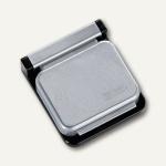 MAUL Magnetclip S, 3, 6 x 4 cm, selbstklebend, silber, 10 Stück, 6240094