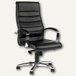 Topstar Bürodrehstuhl TD Lux 10, Leder, schwarz, 8779A80