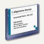 Durable Türschild CLICK SIGN 149x105.5mm, Kunststoff, dunkelblau, 2 St., 4861-07