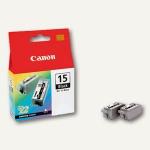 Canon Tintenpatronen i70/i80, schwarz, BCI-15BK, 2er Pack, 8190A002