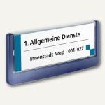 Durable Türschild CLICK SIGN 149x52.5mm, Kunststoff, dunkelblau, 2 St., 4860-07