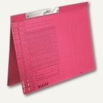 LEITZ Pendelhefter, DIN A4, 250 g/qm, Amtsheftung, rot, 50 Stück, 2094-00-25
