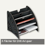 "Fellowes "" Earth"" Sortierelement, 5 Fächer DIN A4 quer, schwarz, 8010701"