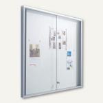 Außen-Schaukasten INTRO - 158 x 101 x 5.5 cm, 21x A4, Alu-Rahmen/eckig