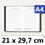 Journal 29 Barbara Termin-/Praxiskalender - DIN A4, 1 Tag/2 Seiten, 294521B