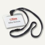 Durable Namensschilder mit Band, 90 x 60 mm, schwarz, 10er-Pack, 8139-01