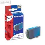 Pelikan Tintenpatrone C28 für Canon CLI-8c, 13ml, cyan, mit Chip, 361707