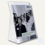 Durable Prospektspender DIN A4 für ca. 200 Blatt, transparent, 2 Stück, 8594-19