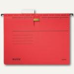 LEITZ Alpha Hängehefter für DIN A4, kaufm. Heftung rot, 5 Stück, 19843025