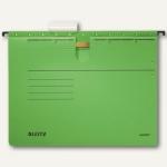 LEITZ Alpha Hängehefter für DIN A4, kaufm. Heftung, grün, 5 Stück, 1984-30-55