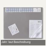 Schreibunterlage - 65 x 52 cm, Vollsichtfolie, 4-Jahreskalender, grau, 7204-10