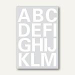 Herma Buchstaben, 25 mm, A-Z, wetterfest, Folie weiß, 20 Blätter, 4169