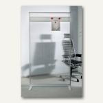Raumteiler/Trennwand mit Acryl-Oberfläche u. Magnetleiste, 180 x 100 x 50 cm