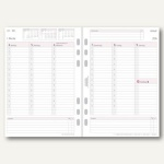 Chronoplan Zeitplaner Wochenplan, DIN A5, 1 Woche/2 Seiten, Spalten, 50238