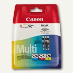 Canon Tintenpatronen CLI-526 MultiPack, C, M, Y, 4541B006