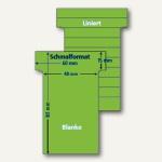 Ultradex T-Karten, blanko, Schmalformat, pistazie, 100 Stück, 542255
