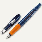 """Herlitz Schulfüllhalter """" my.pen"""", M-Feder, blau/orange, 10999761"""