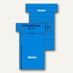 Ultradex T-Karten, liniert/blanko, Schmalformat, karibikblau, 100 Stück, 542156