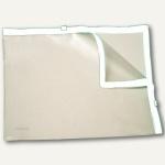 Doppel-Zip Tasche, 295 x 210 mm, PVC, transluzent/weiß, 50 Stück, 40435-10