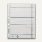 LEITZ Trennblätter DIN A4, geöst, grau, 100 Blatt, 16540085