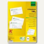 Sigel PC-Visitenkarten 3C, 85 x 55mm, 190 g/m², hochweiß, 100 Stück, LP790