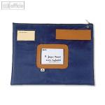 Mehrweg-Versandtasche, wasserfestes Nylon, 42 x 32 x 2 cm, Adressfenster, blau
