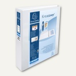 Exacompta Präsentationsringbuch KreaCover -A4+, 4-Ringe Ø 40mm, weiß, 51843E