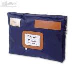Mehrweg-Versandtasche, wasserfestes Nylon, 42 x 32 x 5 cm, Adressfenster, blau