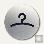"Durable Edelstahl-Piktogramm "" Garderobe"", Ø 83 mm, 2 Stück, 4914-23"