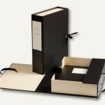 Dokumentensammler/-Box mit Schleife, für DIN A4+, schwarz/creme, 330761
