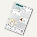 Visitenkartenhüllen DIN A4, PP 100my, 20 Karten pro Hülle, 50 Stück, 5341000
