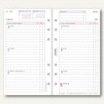 Chronoplan Zeitplaner Wochenplan Midi, DIN A6, 1 Woche/2 Seiten, Zeilen, 50258