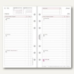 Chronoplan Zeitplaner Wochenplan Midi, DIN A6, 1 Woche/2 Seiten, Zeilen, 50259