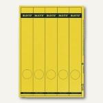 LEITZ Rückenschilder, PC-Beschriftung, schmal/lang, gelb, 125 Stück, 1688-00-15