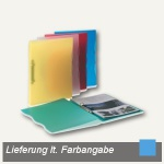 dataplus Ringbuch Trend A4, Ø 15 mm, blau-transparent, 5-er Pack, 28042810