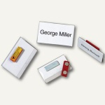 Durable Namensschild mit Magnet, 90 x 54 mm, transparent, 25 Stück, 8117-19