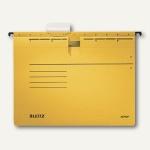 LEITZ Alpha Hängehefter für DIN A4, kaufm. Heftung, gelb, 5 Stück, 19843015