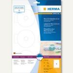Herma CD-Etiketten Mini, Ø 78 mm, blickdicht, matt, weiß, 5x 60 Stück, 8619