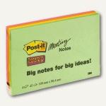 Post-it Meeting Notes, 149 x 98 mm, sortiert, 4 Blöcke, 6445-4SS