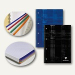 Collegeblock DIN A4+, kariert mit Rahmen, 90 g/m², Ringbuchlochung, 80 Blatt