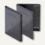 DVD-Slimbox, Kunststoff, 7mm Breite, schwarz, 50 Stück, 93046-3