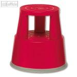 officio Rollhocker, Kunststoff, Höhe 43 cm, Tragkraft 150 kg, rot