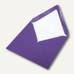 Briefumschlag nassklebend, Seidenfutter 164 x 164 mm, lila gerippt, 100 Stück