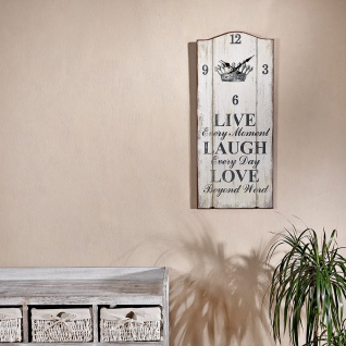 XXL Nostalgie Wanduhr Uhr Board - Live Laugh Love