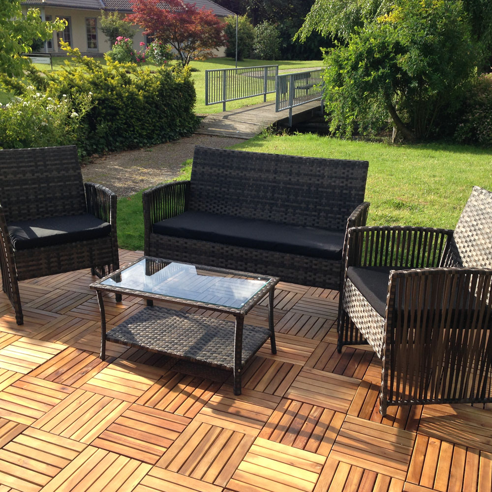 sitzgruppe polyrattan gartenlounge 4 tlg set sitzgarnitur gartenm bel sitzecke kaufen bei. Black Bedroom Furniture Sets. Home Design Ideas