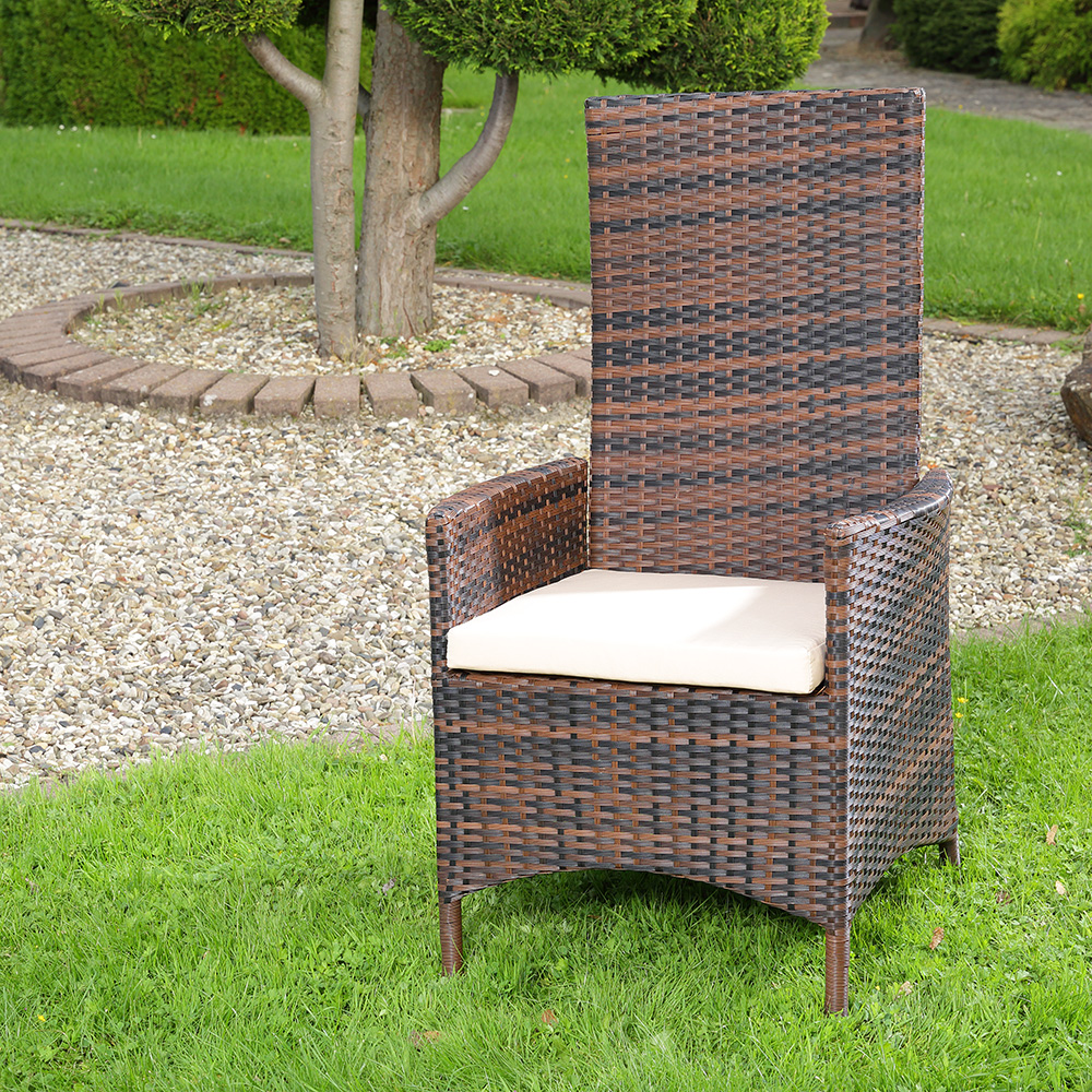 polyrattan sessel braun verstellbar williamflooring. Black Bedroom Furniture Sets. Home Design Ideas